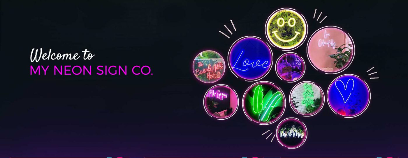 my neon sign company banner