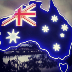 australia map neon sign