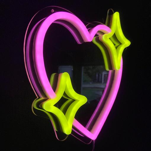heart emoji neon sign
