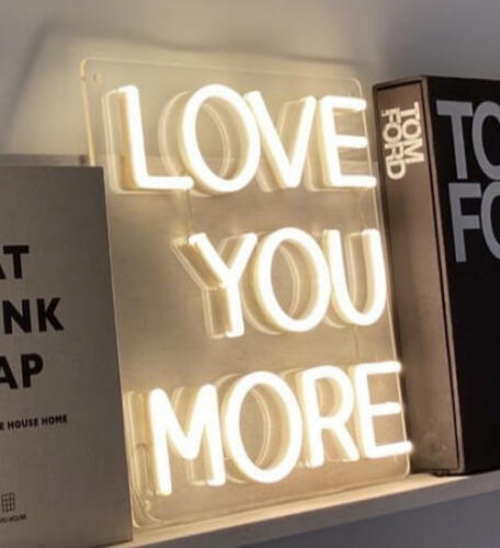 love you more wedding neon signs