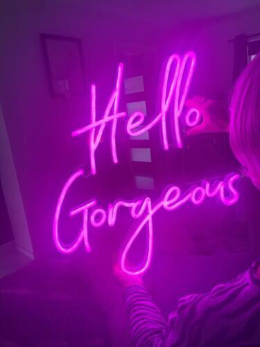 gorgeous neon sign